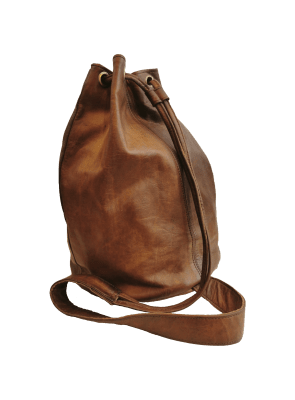 Cow´s & Canvas Leather bag brown