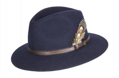 Oxford Blue Felt Wool hat